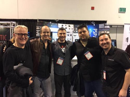 NAMM 2016 with Rafa Sardina, Avedis, Kahayan and Tim Pierce